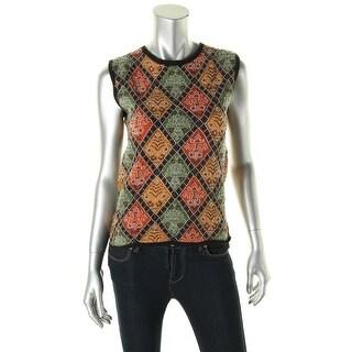 Catherine Malandrino Womens Crochet Beaded Pullover Sweater - 4