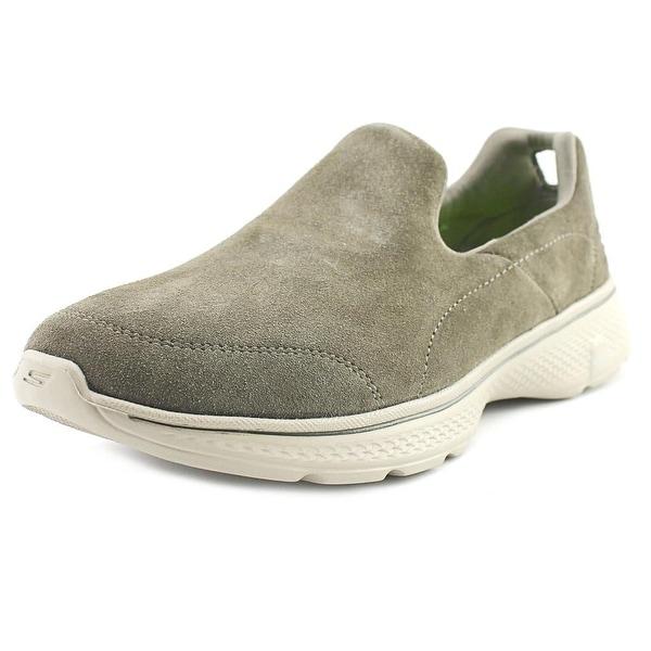 Skechers GoWalk 4 - Expertise Men Round Toe Synthetic Brown Walking Shoe