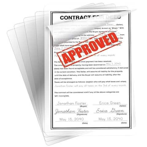 BLACK+DECKER Legal Size Laminating Sheets, 3 mil, 25 Pack - legal size, 3 mil, 25 pack