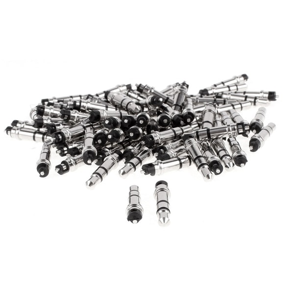 3.5mm Stereo Male Plug Audio Headphone Earphone Jack Connector Black 80pcs