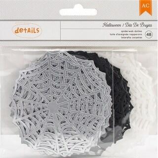 "American Crafts Halloween Die-Cut Shapes 48/Pkg-3""X3"" Little Spider Webs, Foiled"