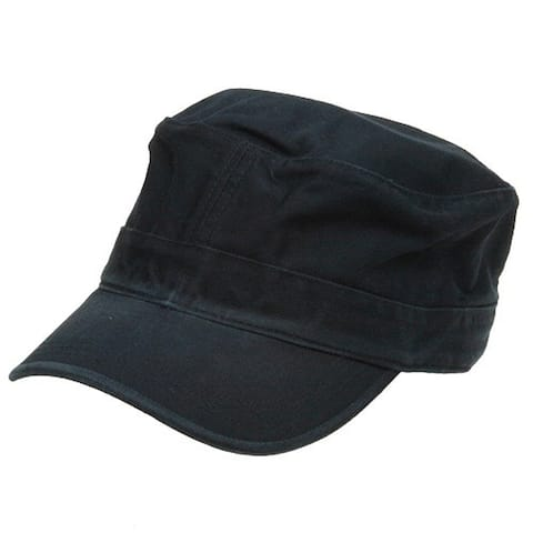 Flat Top Army Cap - Navy