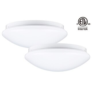 LED Flush Mount Ceiling Light, 12 Inch Dimmable, Pack of 2