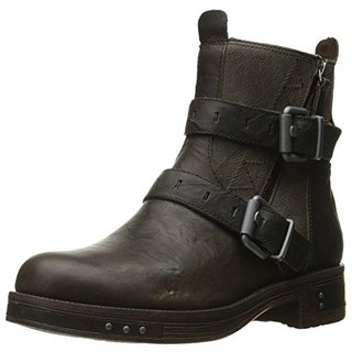 Caterpillar Womens Kearny Motorcycle Boots Leather Ankle - 7 medium (b,m)