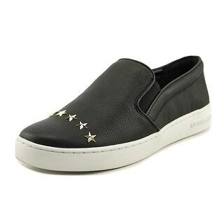MICHAEL Michael Kors Womens Keaton Star Leather Low Top Slip On Fashion Sneak...