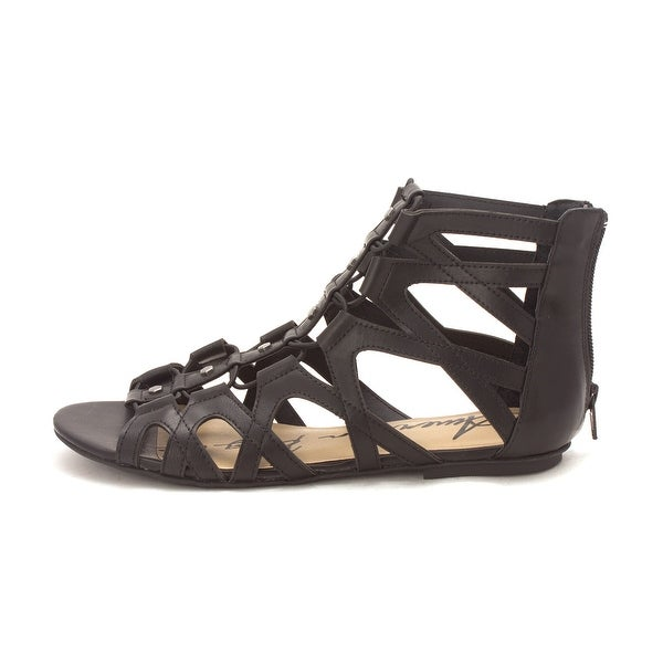 American Rag Womens Romil Open Toe Casual Gladiator Sandals Black Size 75