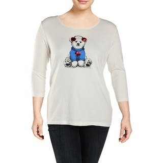2a79dd4f32b Quick View.  10.59. Karen Scott Womens Plus T-Shirt Sequined Polar Bear