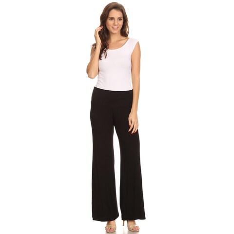 Shore Trendz Women's Wide Leg Boho Palazzo Pants Made in the USA