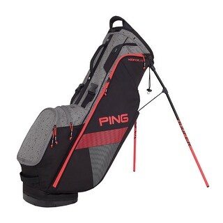 New Ping 2018 Hoofer Lite Golf Stand Bag (Black / Silver / Crimson) - black / silver / crimson