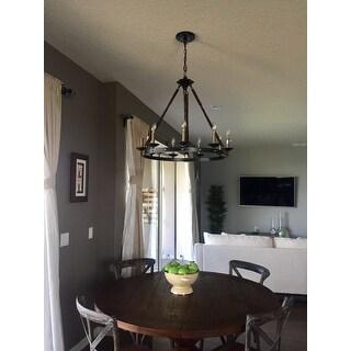 cavalier 9 light black chandelier - Black Chandelier Dining Room