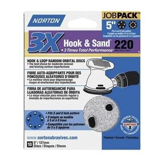 """Norton 03218 Hook and Loop Sanding Disc, 5"""" Dia., Grit 220"""