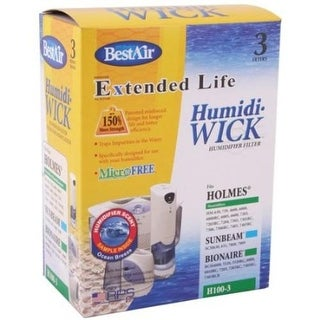Best Air H100-3-5/H100-6 Extended Life Humidifier Filter, White