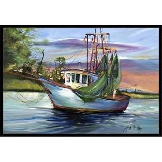 Carolines Treasures JMK1059JMAT Jeannie Shrimp Boat Indoor & Outdoor Mat 24 x 36 in.