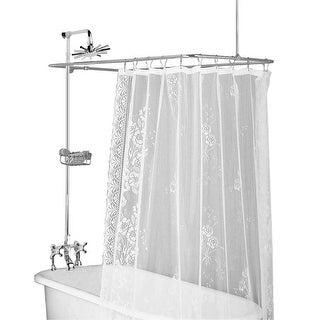 Clawfoot Tub Deck Mount Shower Set Rectangular Enclosure | Renovator's Supply