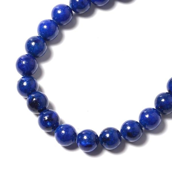 """Natural lapis lazuli Gemstone Tumbled Stone Beads Necklace 18/"""""""