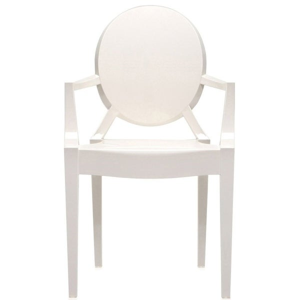 2xhome White Modern Plastic Armchair Polycarbonate For Dining Room Restaurant - N/A