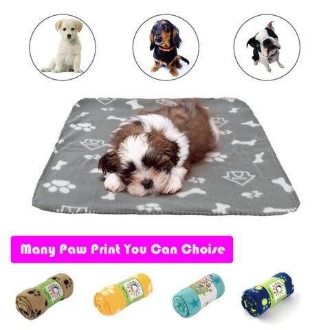 Pet Dog Prints Blanket Pet Bed Cushion Cover Puppy Mat Soft Fleece Blanket