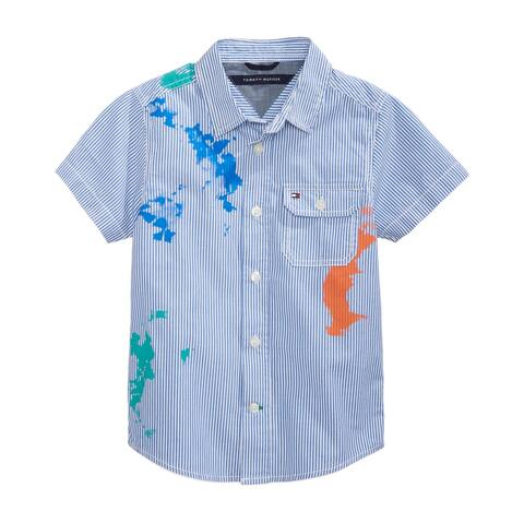 "Tommy Hilfiger Boys Splash Button Up Shirt - "" Neck "" Sleeve"