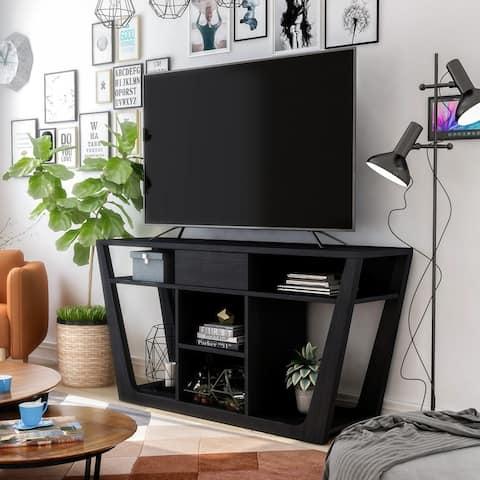 Furniture of America Dionte Modern 60-inch 6-shelf 1-drawer TV Console