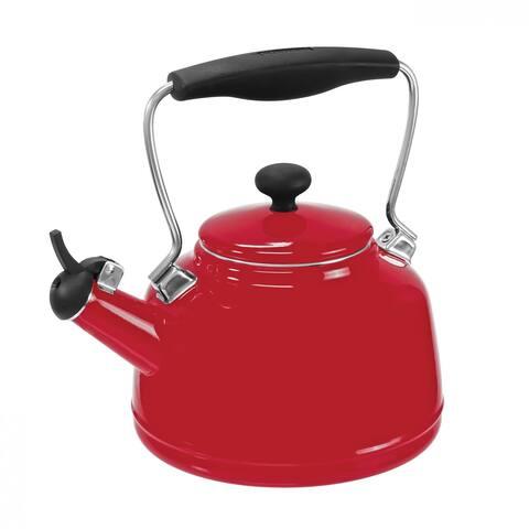Chantal 37-VINT RE Enamel on Steel Vintage Teakettle (1.7-Quart, Red)