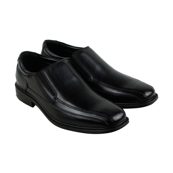 Kenneth Cole New York Len Mens Black Leather Casual Dress Loafers Shoes