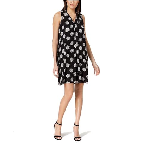 Vince Camuto Women's New Pleated Floral-Print Shift Dress (XL) - XL