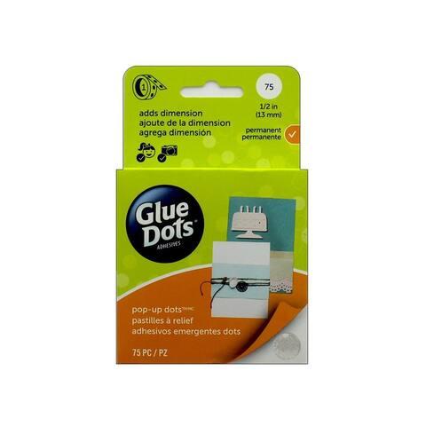 12296-75 glue dots pop up 1 2 box clear 75pc