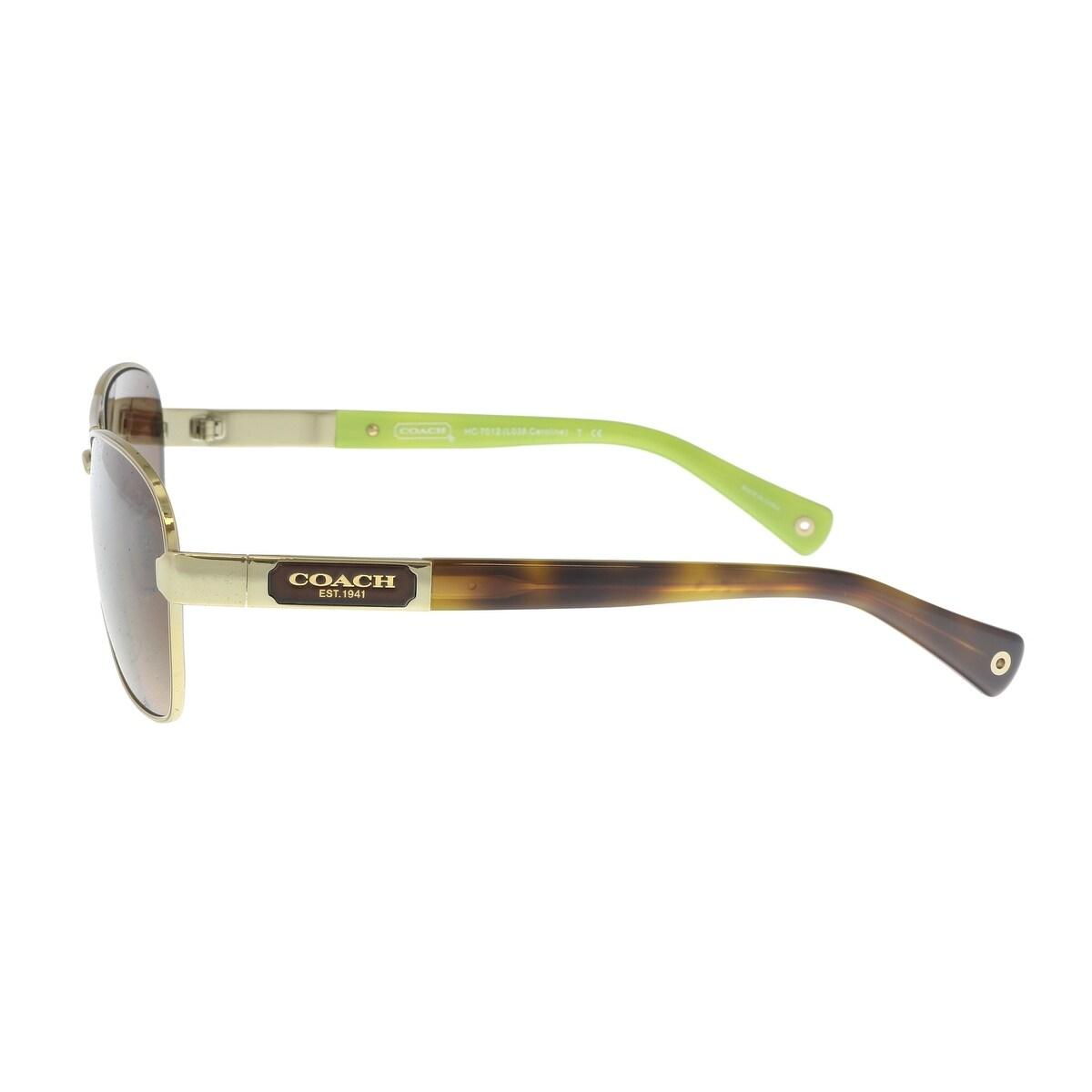 46b5d417fbb7 Shop Coach HC7012 910013 Gold / Tortoise Aviator Sunglasses - 56-14-130 -  Free Shipping Today - Overstock - 21387256