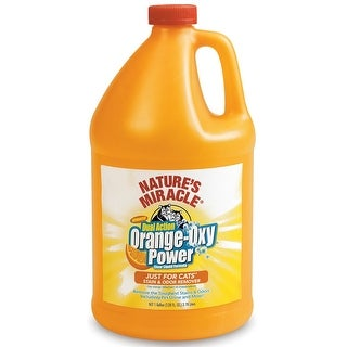 Natures Miracle Just for Cats Orange Oxy Stain & Odor Remover 128oz
