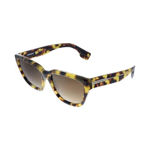 Burberry BE 4277 375913 54mm Womens Havana Frame Brown Gradient Lens Sunglasses