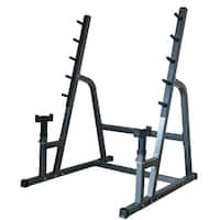 Akonza Deluxe Squat/Bench Combo Rack Fitness Exercise Equipment Safety Multiple Function Set