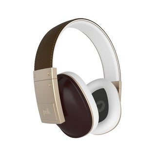 Polk Audio Buckle Headphones with 3 Button Control and Microphone (Brown/Gold)