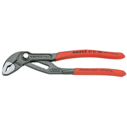Knipex 87-01-180-SBA Cobra Hightech Water Pump Pliers, 7-1/2""