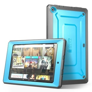 Fire HD 10 Case, Supcase, Amazon Fire HD 10, Unicorn Beetle Pro Series, Built in Screen Protector-Blue/Black