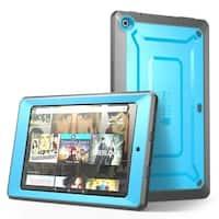 Fire HD 10 Case, Supcase, Amazon Fire HD 10, Unicorn Beetle Pro Series, Built in Screen Protector-Blue/Black