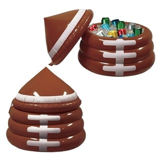"""26"""" Inflatable Football Themed Game Day Party Drink Cooler with Lid - brown"""