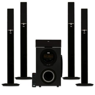 """Acoustic Audio AAT3003 Tower 5.1 Home Theater Bluetooth Speaker System with 8"""" Powered Subwoofer"""