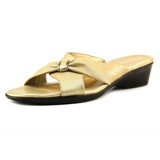 Naturalizer Ellery N/S Open Toe Leather Slides Sandal
