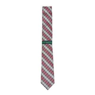 Tommy Hilfiger Men's 'Shirt Plaid' Slim Silk Tie (Red, OS) - os