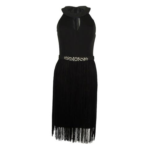 5981f3260d4 Vince Camuto Women s Flapper Belted Dress - Black