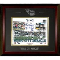 Music City Miracle signed Tennessee Titans 8x10 Photo w Kevin Dyson signature Custom Engraved Logo