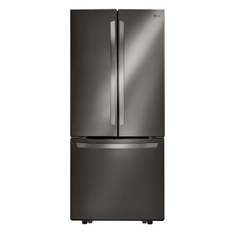 """LG LFCS22520D 22 cu.ft. 3 Door French, 30"""" Width, Black Stainless Steel"""
