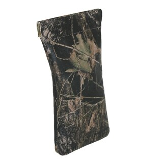 CTM® Leather Camouflage Print Eyeglass Holder and Case - One size
