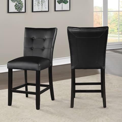 Porch & Den Merkem Faux Leather Side Chair - Set of 2