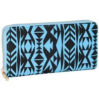 Mad Style Blue Tribal Wallet