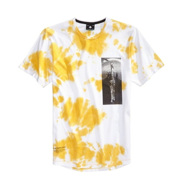 faf355d6b Shop LRG White Yellow Men Size Large L Tie-Dye Giraffe Graphic Tee Shirt -  Free Shipping On Orders Over $45 - Overstock - 22358682