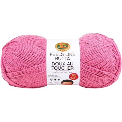 Lion Brand Feels Like Butta Bonus Bundle Yarn-Dusty Pink
