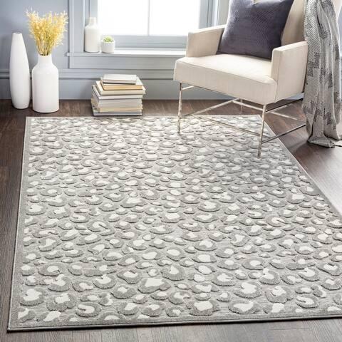 Benni Indoor/ Outdoor Leopard Print Area Rug