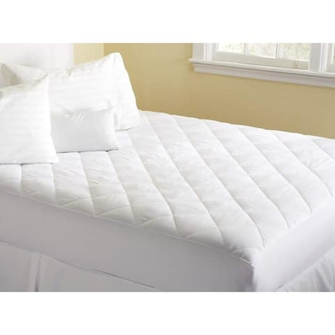 Porch & Den Fitted Mattress Pad/ Topper/ Cover Protection For Restful Sleep - White