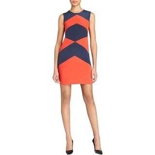 DKNY Womens Casual Dress Silk Striped - p